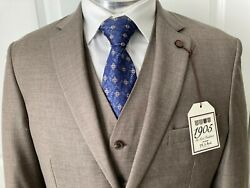 1905 Collection Tailored Fit Three Piece Suit, Size41r/w34, New
