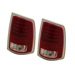 Tail Light Clear And Red Lens With Bulbs Passenger Side For Ram 1500 2013-2018