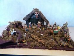 Fontanini 5 Heirloom Nativity Stable With 30 Figures Plus...scene Materials