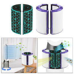 4x Glass Hepa Filter And Activated Carbon Filter For Dyson Hp04 Purifying Fan