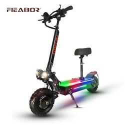 2400w Electric Scooter Dual Motor Fast Tire Speed 60v Scooter Foldable With Seat