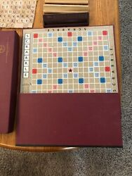 Vintage Scrabble Board Game 1948 Selchow And Righter Co. Made In Usa W/xtra Piec