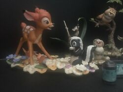 Wdcc Bambi Set Includes 2 Rare Lmtd Edand039 Complete Scene Field Mouse Included Mib