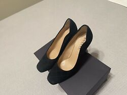 Anyi Lu Black Ladies Suede Mid Heel Shoes Size 37  Homemade In Italy.