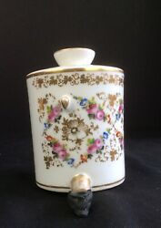 Antique French German Porcelain Hand Painted Tea Coffee Pot Hot Water Urn 1