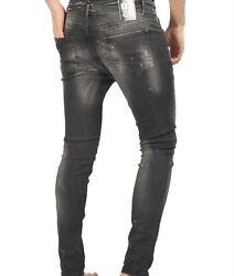 Men`s Jeans Of Dsquared And Made In Italy And D-5084 Model And Black Ones Andrubber Logo