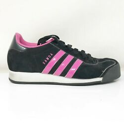 Adidas Womens Samoa G47239 Black Running Shoes Lace Up Low Top Size 6.5