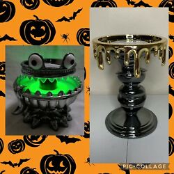 Bath And Body Works Halloween 2021 Monster/pedistal Light Up 3 Wick Candle Holder