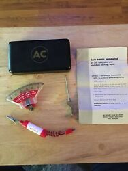 Vintage Ac Spark Plug Cam Dwell Indicator Tool With Case Automotive Tool Antique