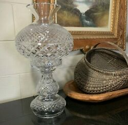 Waterford Crystal Inishmore Large 19 Two Piece Electric Hurricane Lamp
