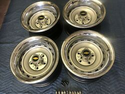 1971-87 Chevy C10 Truck 5 On 5 15x8 Gm Original Truck Rallys,gm Caps And Gm Rings