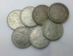 1921 P D S Morgans Nice Group Of 7 Silver Dollars Mixed Grade Two Each Mint Mark