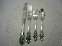 Grande Baroque By Wallace Sterling Silver Flatware Service Set For 12 - 48 Pc