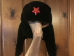 Genuine Pla Chinese Army Red Star Badge Winter Hat 1988 Issue Size 22.5