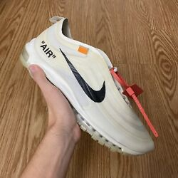 Nike Off-white X Air Max 97 Og The Ten Aj585-100 Size 12 Lightly Worn Sneakers