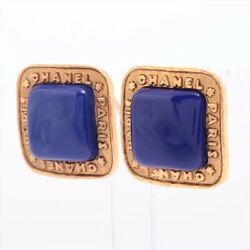 Logo 2 8 Earring Binaural Gold Plated Gold Color Stone