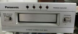 Vintage Panasonic 8-track Stereo Play Deck Model Rs - 853 W/ 3 Cases Of Tracks