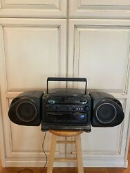 Vintage Fisher Ph-d5500 Boombox Stereo/cd/ Dual Cassette/radio Works Great 1992