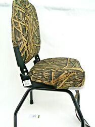 Wise Removable Black Seat Stand And High Back Camo Boat Seat Fishing Stand