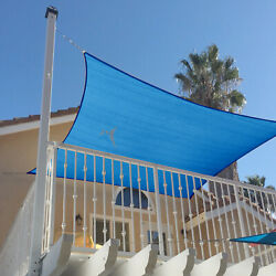 Blue 39 Ft Heavy Duty Steel Wire Cable Sun Shade Sail Canopy Patio Pool