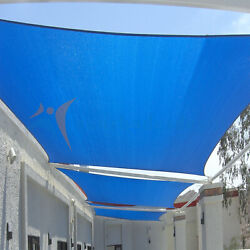 Blue 28 Ft Heavy Duty Steel Wire Cable Sun Shade Sail Canopy Patio Pool
