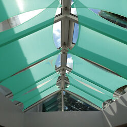 Turquoise 18 Ft Heavy Duty Steel Wire Cable Sun Shade Sail Canopy Patio Pool