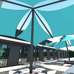 Turquoise 43 Ft Heavy Duty Steel Wire Cable Sun Shade Sail Canopy Patio Yard