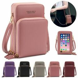 Touch Screen Cell Phone Purse Crossbody Leather Wallet Pouch Shoulder Bag Women $16.91