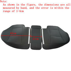 Ad Pu Leather 3d Surround Car Seat Protector Rear Seat Cover For All Cars Black