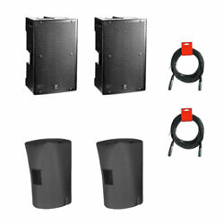 2 Pack-yorkville Ps12p 12 Powered Speaker W/cover And Xlr Cables