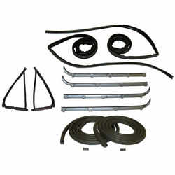 Door Seal Window Channel And Belt Weatherstrip Kit 87-96 Ford F150 F250 Bronco