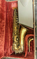 Vintage Holton Rudy Wiedoeft Gold Plated Alto Saxophone