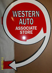 Western Auto Flange Sign Heavy Steel Sign Great Color And Shine