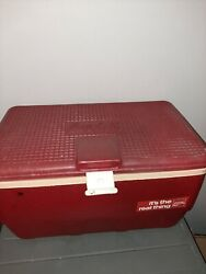 Vintage Red Igloo Coca-cola Coke Cooler Ice Chest Plastic With Tray