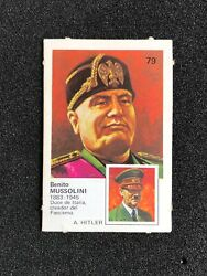 1977 79 Benito Mussolini And Adolf Hitler Vintage Card Rare A 0721