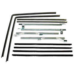Inner And Outer Felt Window Belt And Glass Run Div Bar 12 Pc Kit 66-77 Ford Bronco
