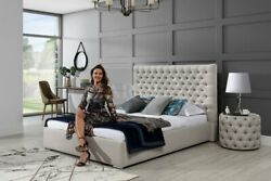 Classic Design Bed Pads Beds Textile 160x200cm Jvmoebel Chesterfield