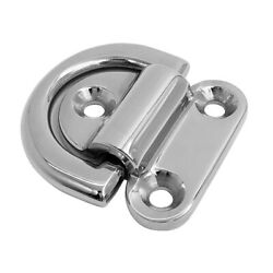 6mm Folding Pad Eye Deck Lashing D Ring Cleat For Trailer Marine Boat