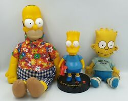 The Simpsons Bart Simpson Clock And Window Doll, Homer Simpson Doll Sk Drmp