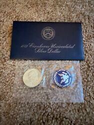 1972-s Eisenhower 40 Silver Dollar Uncirculated Envelope And Coa 2