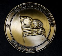 First U.s. Flag Medallion The History Channel Club American History Collectors