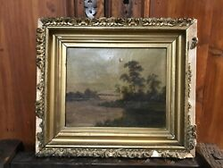 Antique Nineteenth Century Old Master Oil Painting On Canvas Rare Nyc Vault Find