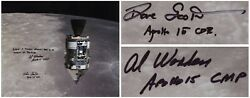 Al Worden And Dave Scott Signed 20 X 16 Photo Of The Cm