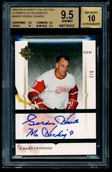 2005-06 Ultimate Collection 2/6 Gordie Howe Autograph Card Only 1/1 9.5 Graded