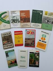 Lot John Deere Farmer's Pocket Ledger Notebook New And Used And Others Lot Of 12