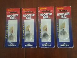 Lot Of 4 Roostertail Spinners Brown Trout Salmon Trout Bass Fishing Lures 1 6oz