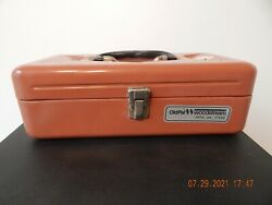 Vintage Old Pal Woodstream Metal Fishing Tackle Box With Tray