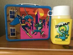 Vintage Dynomutt Lunchbox And Thermos