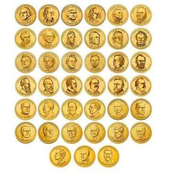 2007 To 2020 Presidential Dollar 40 Coins Complete Set