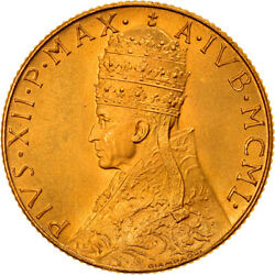 [908067] Coin Vatican City Pius Xii 100 Lire 1950 Ms65-70 Gold Km48